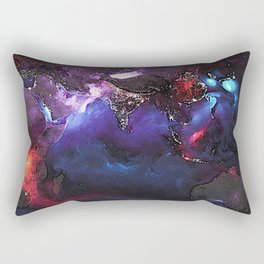 Beauty of Pollution / Aerosol Earth - Eastern Part Rectangular Pillow