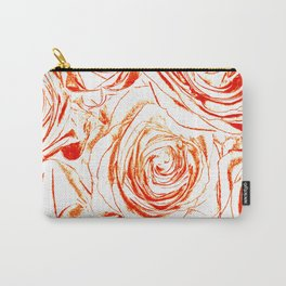 Roses // Wedding Flowers, Abtract Minimalist Art Carry-All Pouch