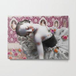"""in my dreams I'm waltzing with flowers"" Metal Print"