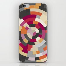 Concentric Rings Grey iPhone & iPod Skin