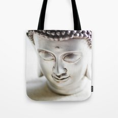 Silver Buddha Tote Bag
