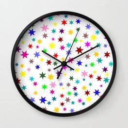 Colorful stars Wall Clock