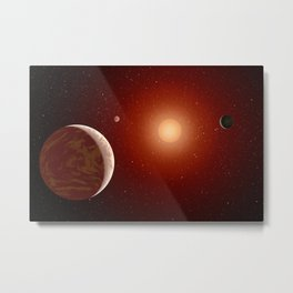423. Planets Under a Red Sun Metal Print