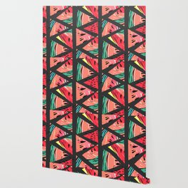 Black Watermelon Pattern Wallpaper