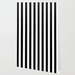 Stripe Black & White Vertical Wallpaper