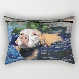Water Dog Rectangular Pillow