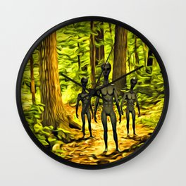The Aliens Are Here Wall Clock