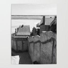 Medieval Coastline- Le Mont Saint Micheal Poster