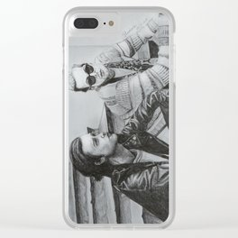 Portait of Zach and Jesse from The Neighbourhood Clear iPhone Case