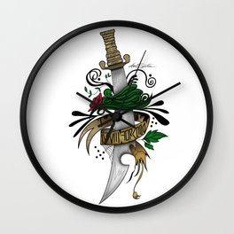 Symbolic Sword Wall Clock
