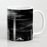 mona lisa Mugs featuring Mona Lisa Glitch by nicebleed