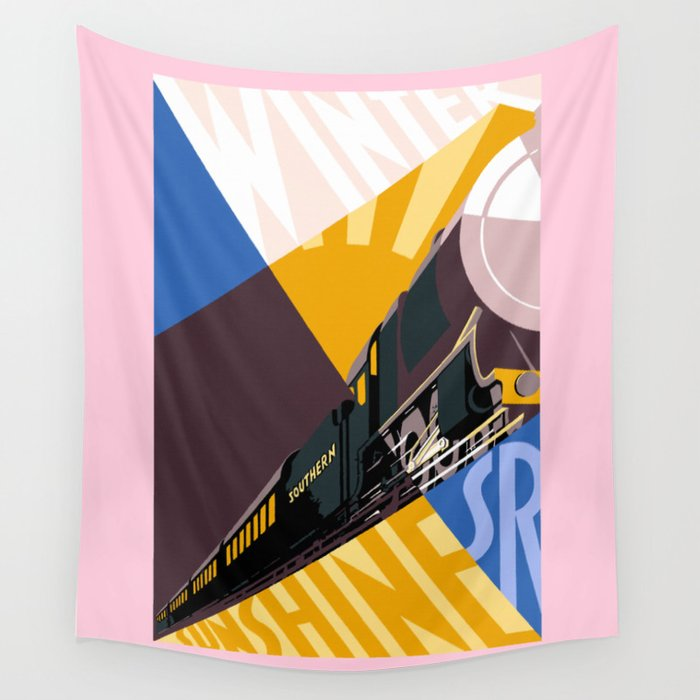 Travel South for Winter Sunshine Wall Tapestry