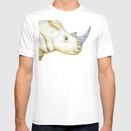 Striped Rhino Illustration T-shirt