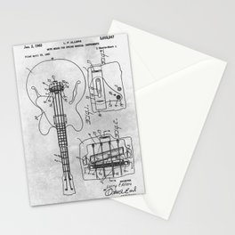 Mute means for electrical music instrument Stationery Cards