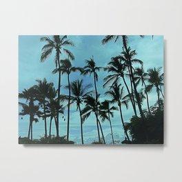 Blue Suede Trees Metal Print