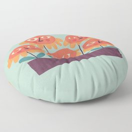 Flowers - the quirky little people Floor Pillow