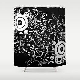 Abstract white and grey background Shower Curtain