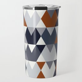 Navy Rust Geometry I Travel Mug