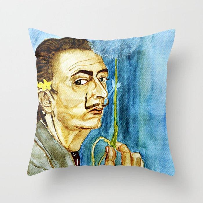 Dali Dandelion Throw Pillow