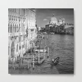 VENICE Canal Grande & Santa Maria della Salute | Monochrome Metal Print