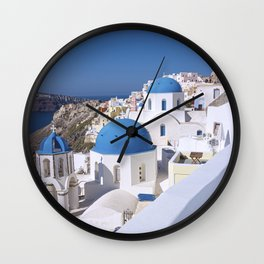Oia Village in Santorini Wall Clock