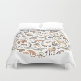 100 animals Duvet Cover
