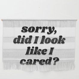 did I look like I cared? Wall Hanging