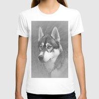 husky T-shirts featuring Siberian Husky by Doug McRae