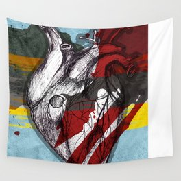 Colorful Heart Wall Tapestry