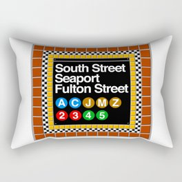 subway south street seaport sign Rectangular Pillow