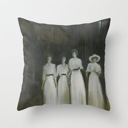 Ladies in the Park Throw Pillow