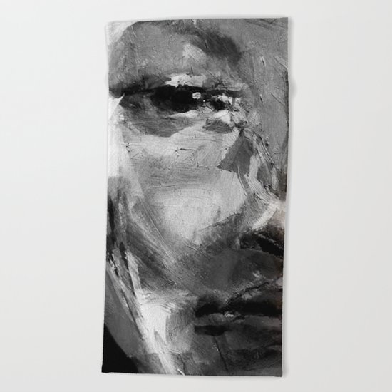 Gray Face Beach Towel