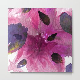 Watercolor Fuchsia Mirage Metal Print