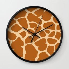 Giraffe pattern Wall Clock