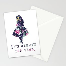 Alice floral designs - Always tea time Stationery Cards