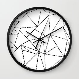 Abstract Dotted Lines Black and White Wall Clock