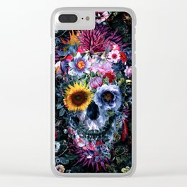 Voodoo Skull Floral Clear iPhone Case