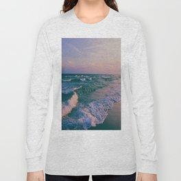 Sunset Crashing Waves Long Sleeve T-shirt