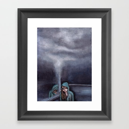 never go home (homesick) Framed Art Print