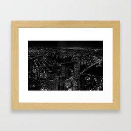 Manhattan High View Framed Art Print