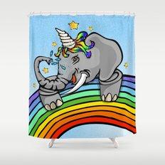 Magical Uniphant! Shower Curtain