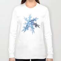 snowflake Long Sleeve T-shirts featuring Snowflake by MG-Studio