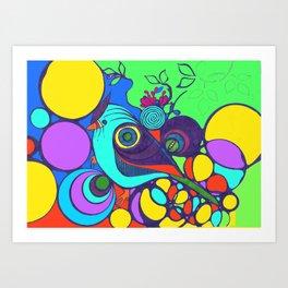 Colourful Bird Art Print