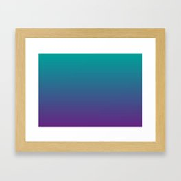 Ombre | Teal and Purple Framed Art Print