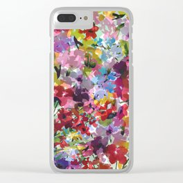 Hummingbird Haven Clear iPhone Case