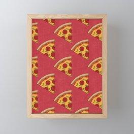 FAST FOOD / Pizza - pattern Framed Mini Art Print