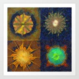 Unijugous Threadbare Flowers  ID:16165-010211-80730 Art Print