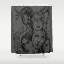 Blackthorne Sisterhood Shower Curtain