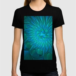 Floral in Sea Colors T-shirt