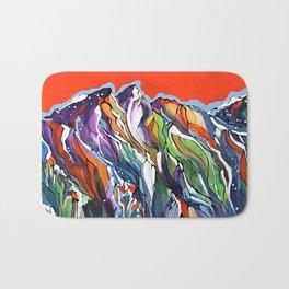 Freezing Hot Colorful Mountain Art Bath Mat